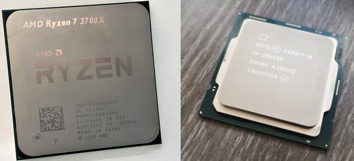 Un procesor AMD Zen 2 versus un procesor INTEL Core din generația 10