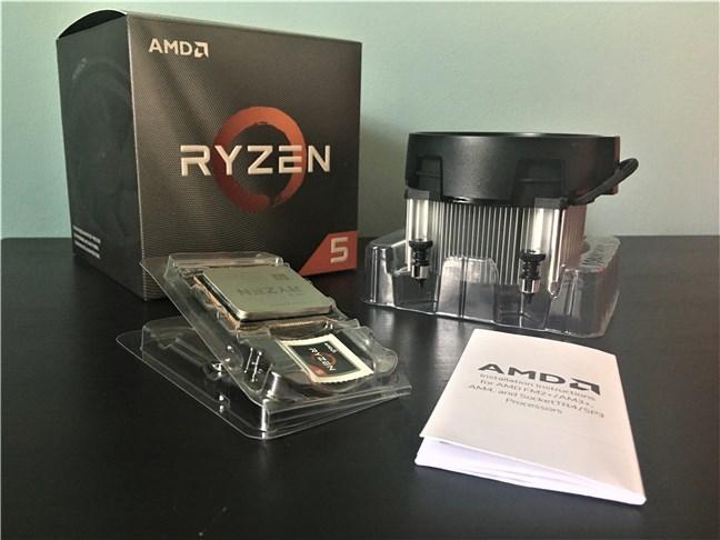 AMD Ryzen 5 3600X - Conținutul cutiei
