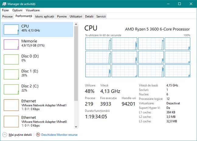 AMD Ryzen 5 3600 supratactat la 4,15 GHz