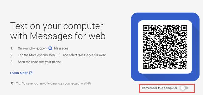 Messages for web - cod QR
