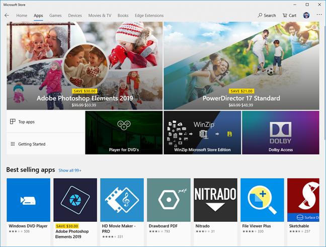 Aplicații în Microsoft Store
