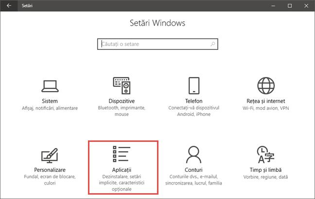 Aplicatii pentru site-uri web, Windows 10