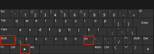 Apasă simultan tastele Windows, Shift și M pentru a restaura aplicațiile