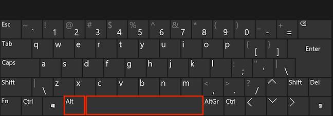 Apasă Alt și Spațiu simultan pe tastatura ta