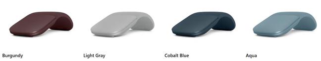 Culorile în care este disponibil Microsoft Arc Mouse