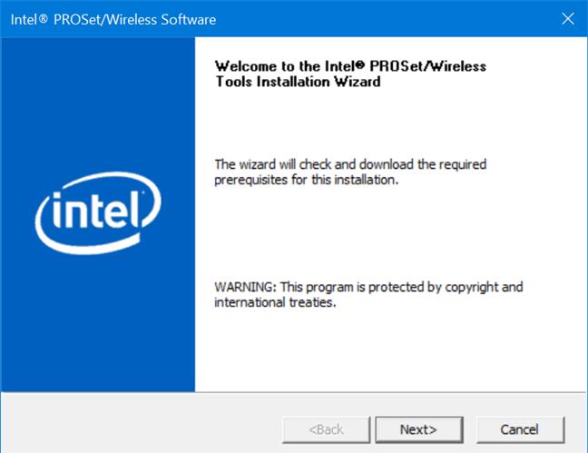Driverele Intel PROSet/Wireless Software