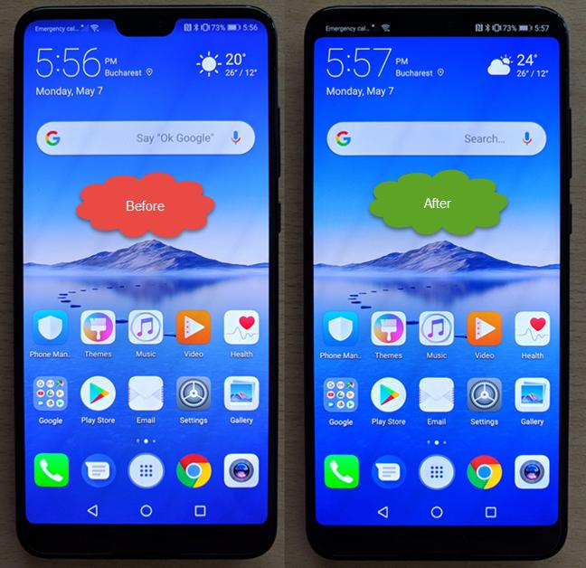 Huawei P20, fanta, notch, ascunde