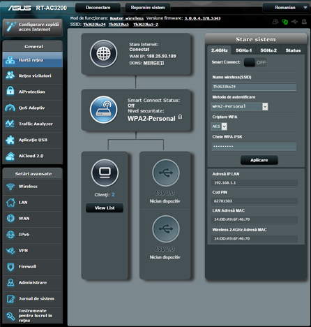 ASUS, RT-AC3200, wireless, router, tri-band, review, performanta, benchmark