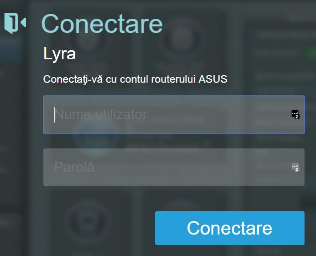 Firmware-ul ASUS - Conectează-te la routerul ASUS