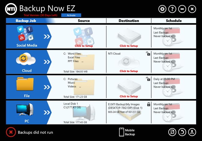 NTI Backup Now EZ