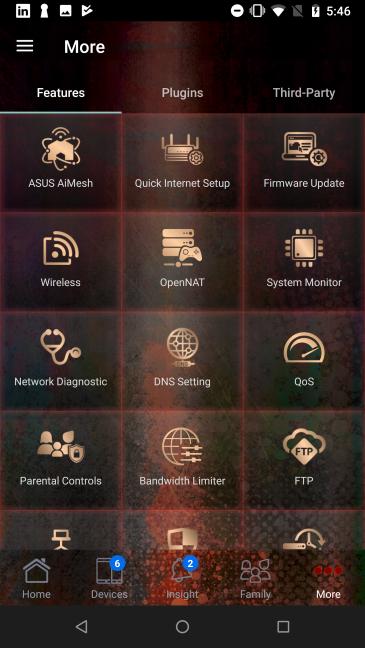 Aplicația ASUS router pentru Android