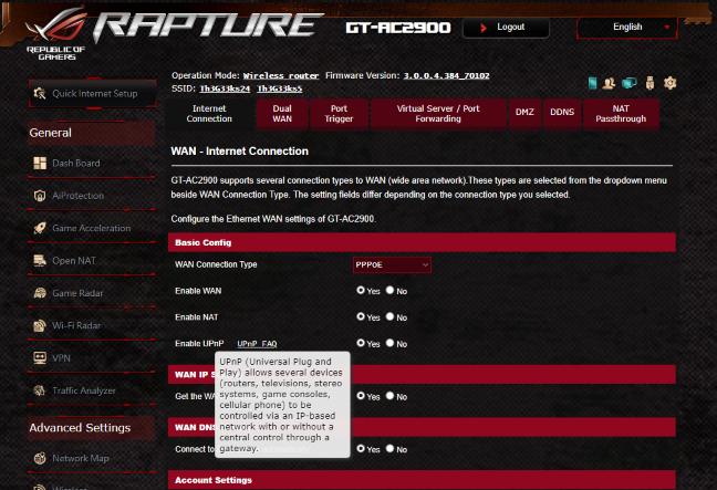 Documentația de ajutor a ASUS ROG Rapture GT-AC2900