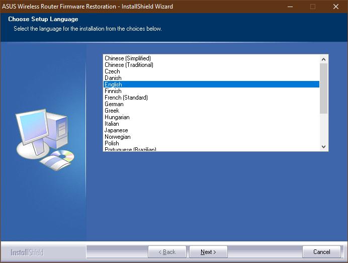 Instalarea ASUS Firmware Restoration