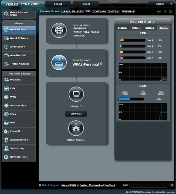 Firmware-ul de pe ASUS Lyra Voice