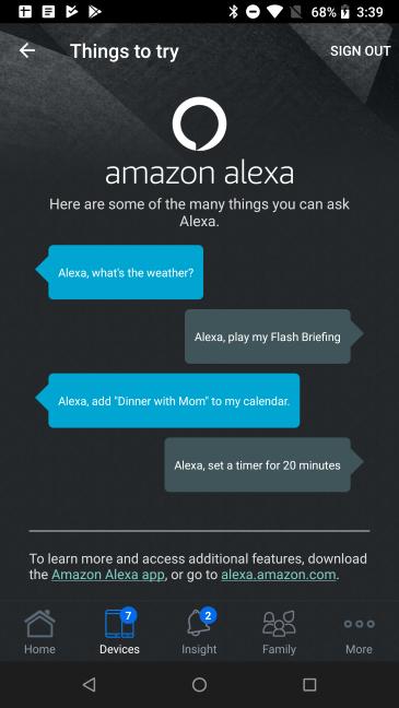 Instalează aplicația Amazon Alexa