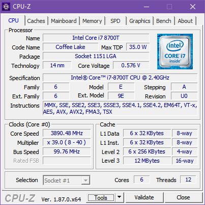 Procesorul din ASUS Mini PC PB60G