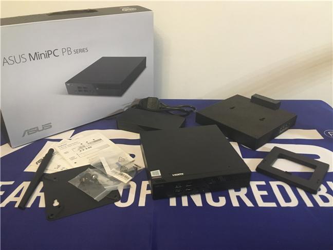 Conținutul pachetului ASUS Mini PC PB60G