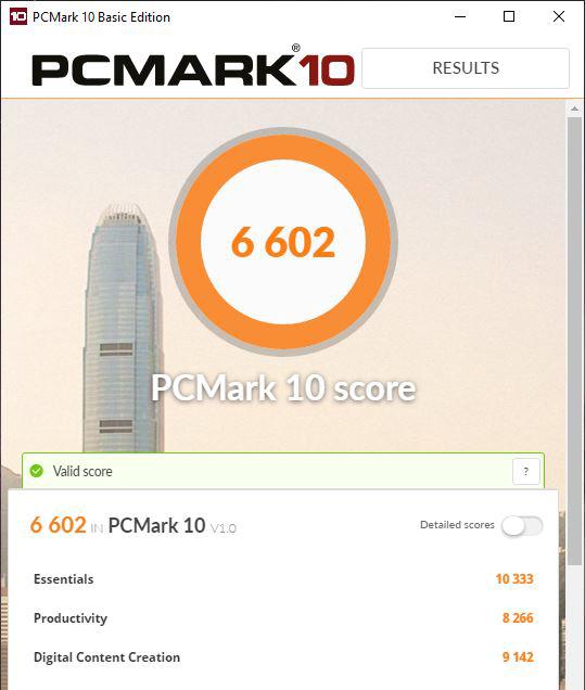 ASUS Mini PC ProArt PA90 - scor în PCMARK 10