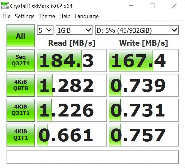 ASUS Mini PC ProArt PA90 - scor în CrystalDiskMark