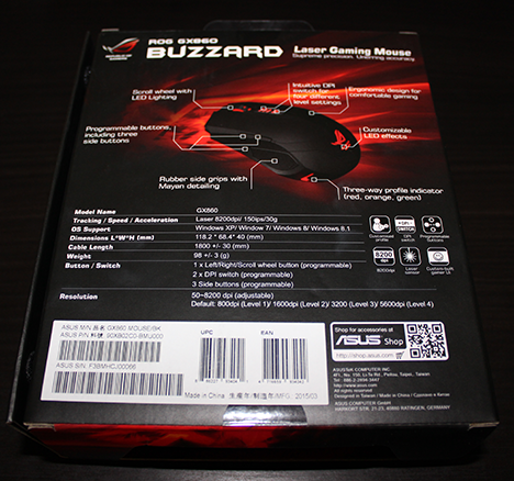 ASUS, ROG, Buzzard, GX860, mouse, review, gaming, gm50, mousepad, recenzie