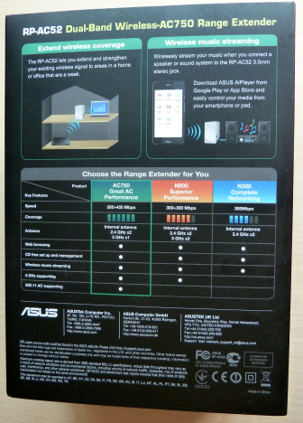ASUS RP-AC52, WPS, range, extender, wireless, retea, dual-band, 802.11ac