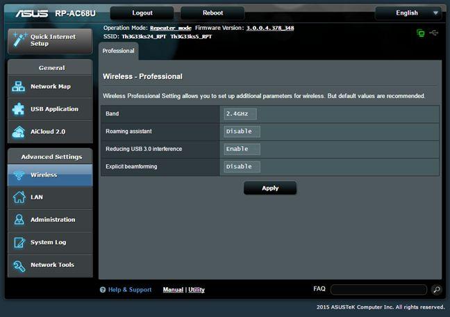 ASUS RP-AC68U, range extender, repeater, media bridge, review