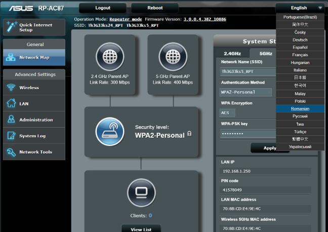 ASUS RP-AC87, range extender