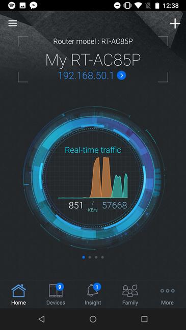 Aplicația ASUS router pentru ASUS RT-AC85P