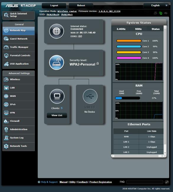 Firmware-ul de pe ASUS RT-AC85P