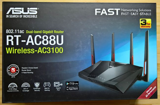 ASUS RT-AC88U, AC3100, wireless, router WiFi, recenzie, teste, performanta, acoperire, viteza