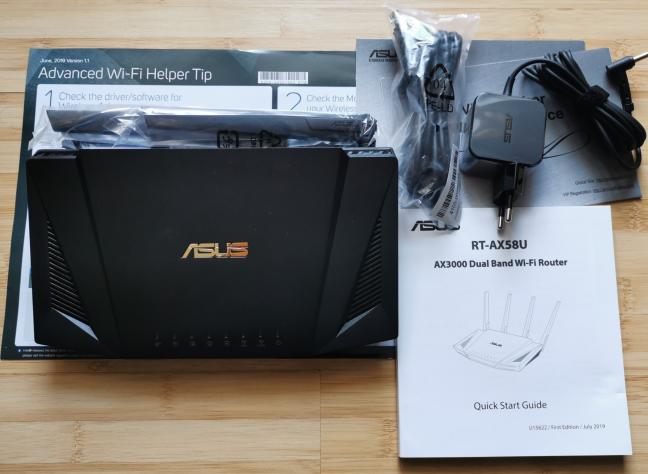ASUS RT-AX58U - ce găsești în cutie