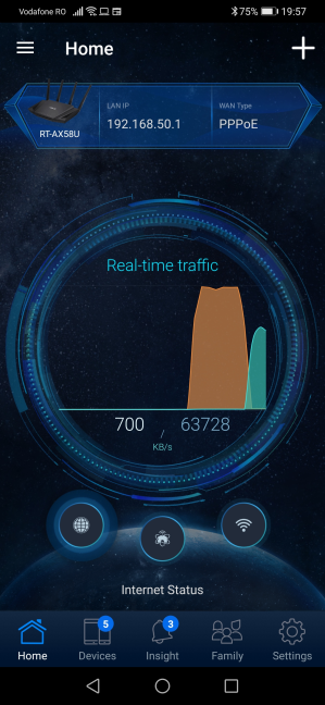 Aplicația mobilă ASUS Router