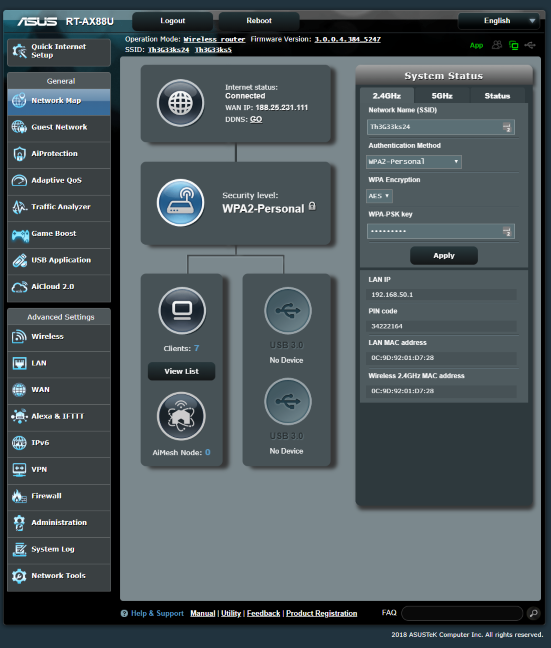 Firmware-ul de pe ASUS RT-AX88U