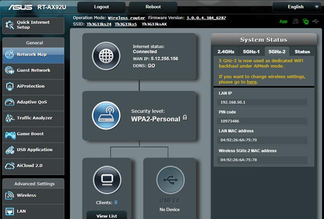 ASUS RT-AX92U folosește a treia bandă drept backhaul (racord) WiFi