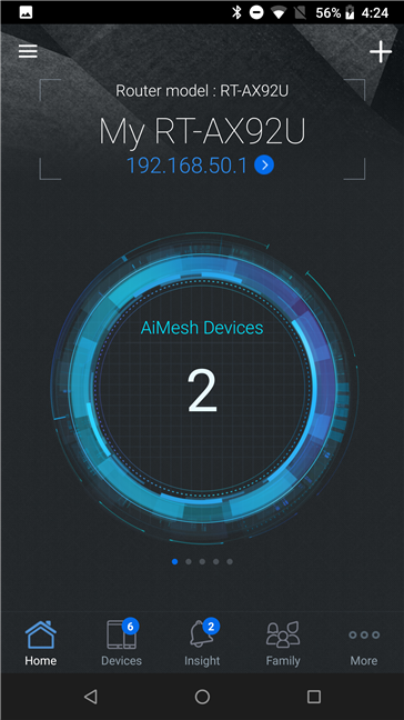 Aplicația ASUS Router
