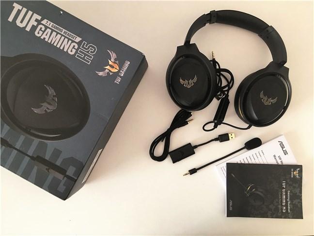 Conținutul pachetului ASUS TUF Gaming H5