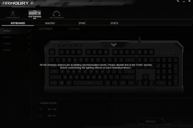 Un bug provocat de AURA Sync în Armoury II
