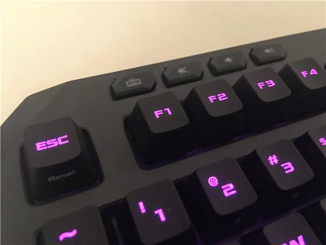 Butoanele media de pe tastatura ASUS TUF Gaming K5