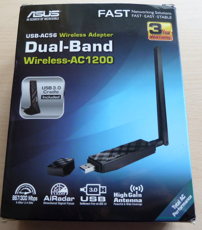 ASUS USB-AC56, 802.11ac, Dual-band, Wireless-AC1200, USB, review, recenzie, retele, wireless
