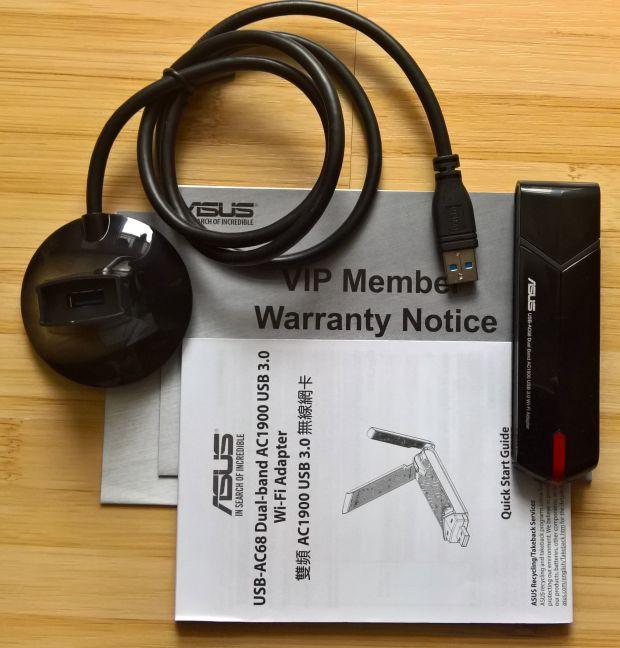ASUS USB-AC68, adaptor, retea, wireless, WiFi, USB 3.0