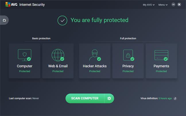AVG Internet Security, 2018