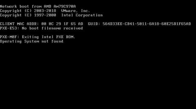 Eroare și informații afișate de BIOS atunci când un calculator nu poate porni