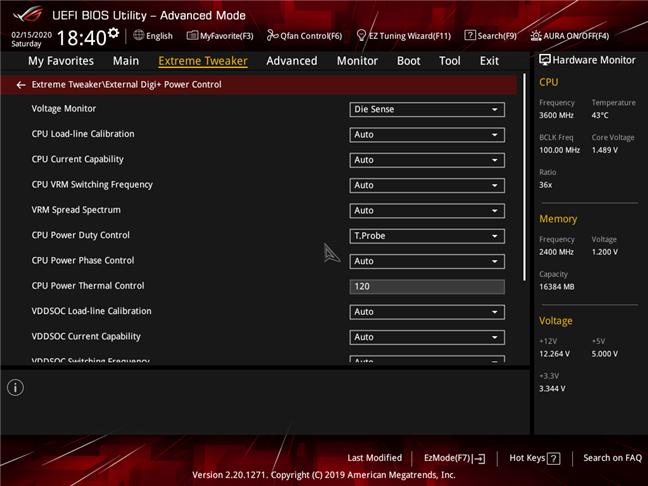 Setări complexe pentru procesor, disponibile în BIOS-ul unei plăci de bază