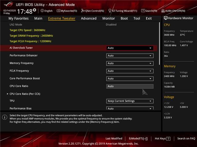Setări avansate disponibile pe o placă de bază pentru gaming