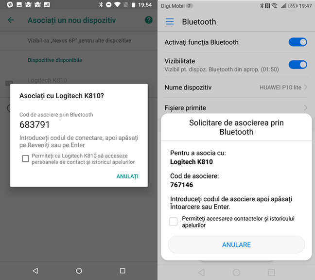 Bluetooth, Android
