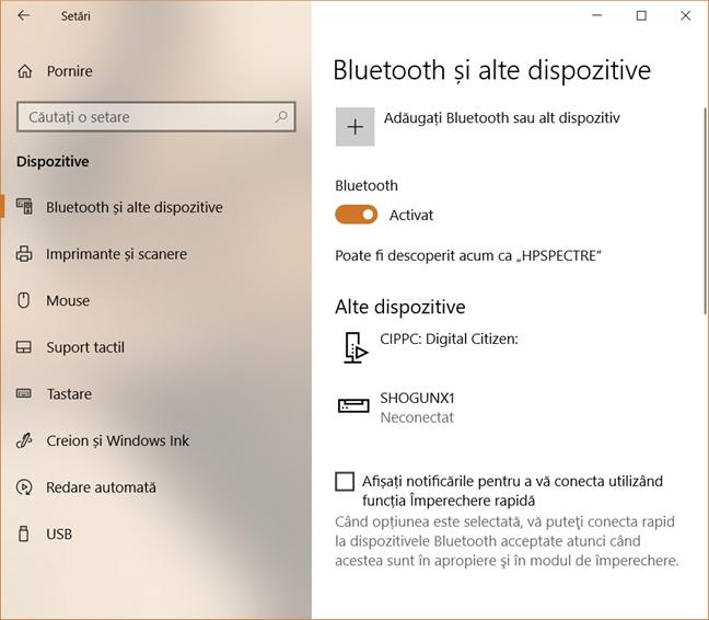 Bluetooth, Windows 10