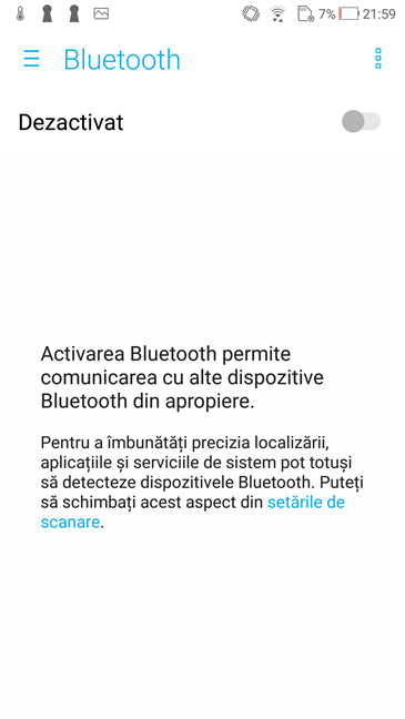 Android, Bluetooth