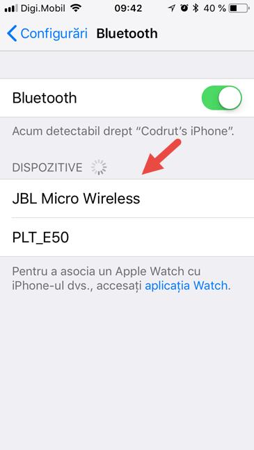 iPhone, iPad, iOS, Bluetooth, conectare