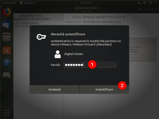 Autentificare ca administrator în Ubuntu Linux