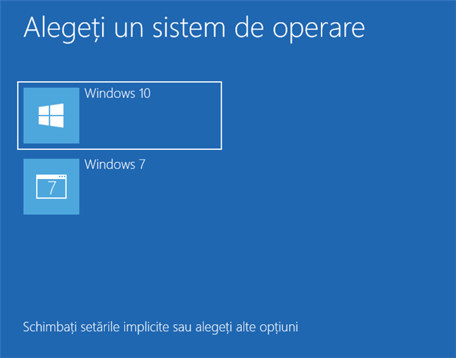 Windows 10 și Windows 7 în dual-boot